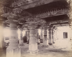 Interior of mandapa of Rangaswami Temple, Bankapur